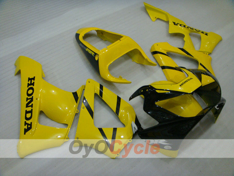 Injection ABS Fairing kit For Honda CBR929RR 2000-2001 - Yellow, Black - Factory Style