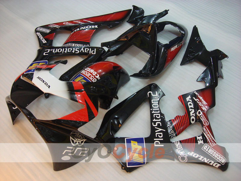 Injection ABS Fairing kit For Honda CBR929RR 2000-2001 - Red Black - DUNLOP, Play Station