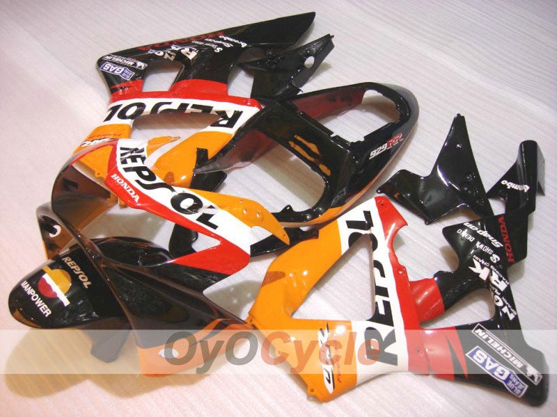 Injection ABS Fairing kit For Honda CBR929RR 2000-2001 - Yellow Black - MICHELIN, Repsol