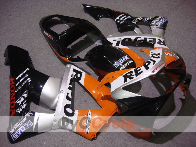Injection ABS Fairing kit For Honda CBR929RR 2000-2001 - Black Silver - MICHELIN, Repsol