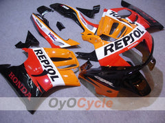 Injection ABS Fairing kit For Honda CBR600F3 1995-1996 - Red Orange - Repsol