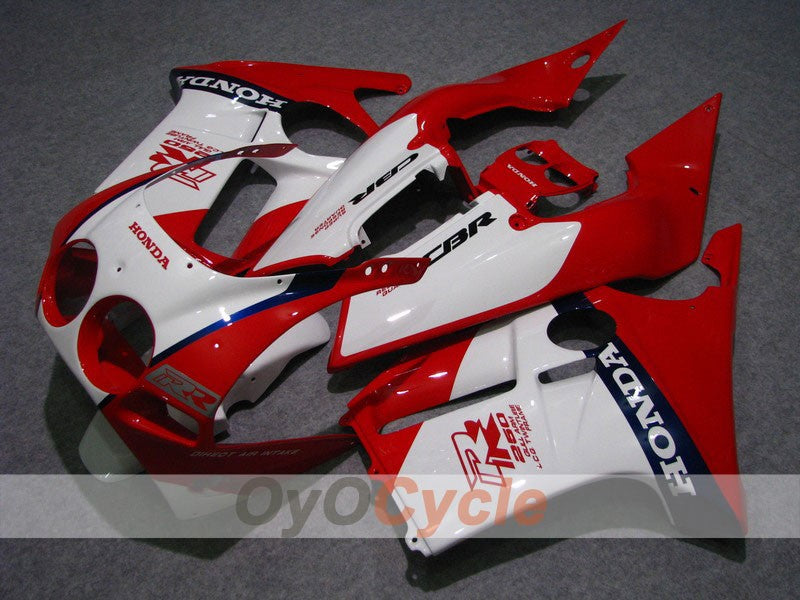 Injection ABS Fairing kit For Honda CBR250RR 1988-1989 - Red, White - Factory Style