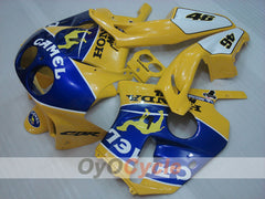 Injection ABS Fairing kit For Honda CBR250RR 1990-1994 - Yellow, Blue - Camel