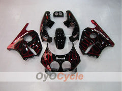 Injection ABS Fairing kit For Honda CBR250RR 1990-1994 - Red, Black - Flame
