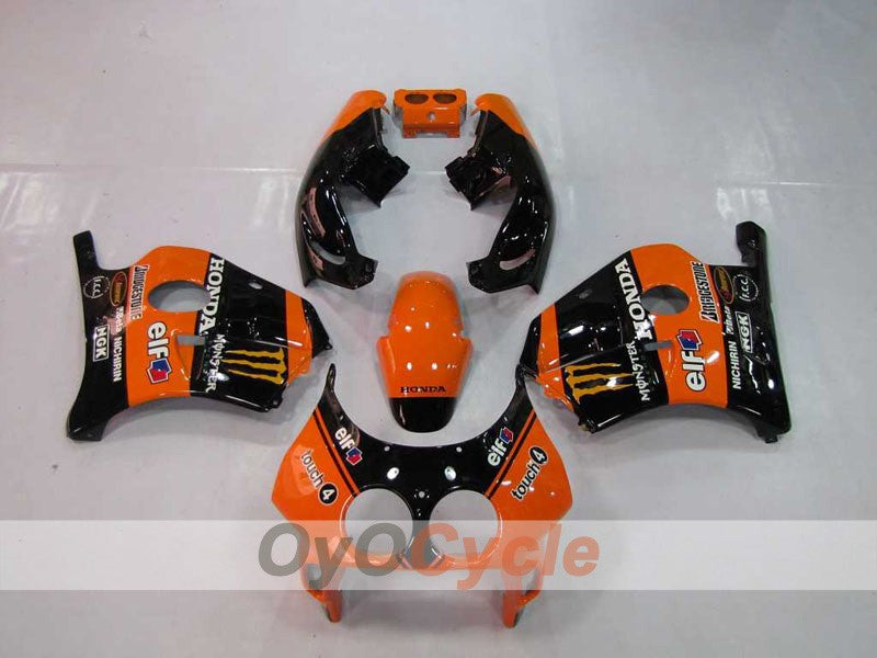 Injection ABS Fairing kit For Honda CBR250RR 1990-1994 - Orange, Black - Monster