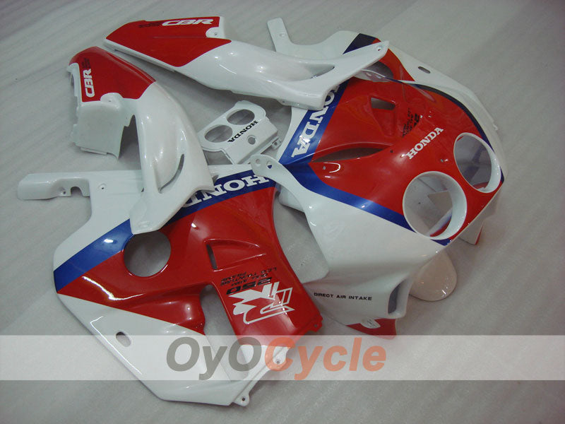 Injection ABS Fairing kit For Honda CBR250RR 1990-1994 - Red, White - Factory Style
