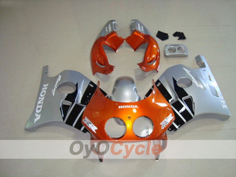 Injection ABS Fairing kit For Honda CBR250RR 1990-1994 - Orange, Silver - Factory Style