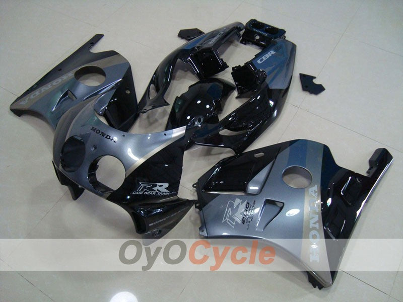 Injection ABS Fairing kit For Honda CBR250RR 1990-1994 - Black, Grey - Factory Style