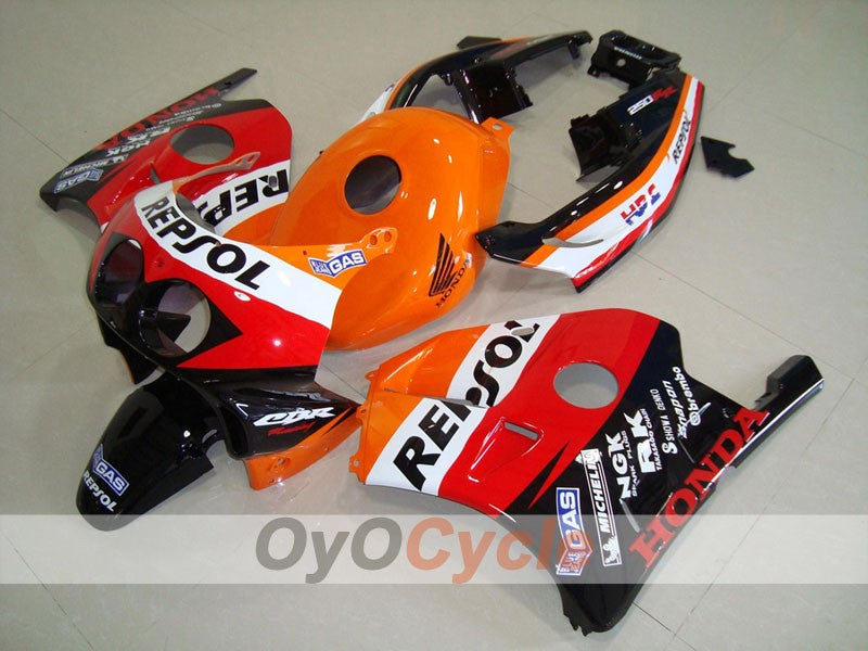 Injection ABS Fairing kit For Honda CBR250RR 1990-1994 - Red, Orange - Repsol
