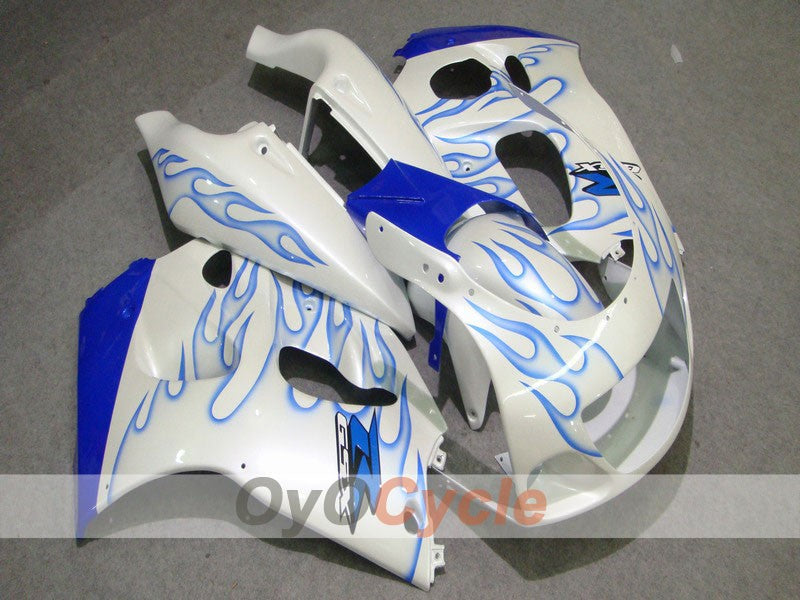 ABS Fairing kit For Suzuki GSXR600 1997-2000 - Blue, White - Flame