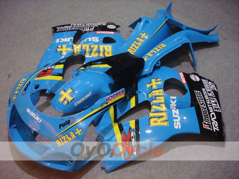 ABS Fairing kit For Suzuki GSXR600 1997-2000 - Blue, Black - MOTUL, Rizla+