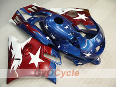 Injection ABS Fairing kit For Honda CBR600F2 1991-1994 - Red Blue - Factory Style