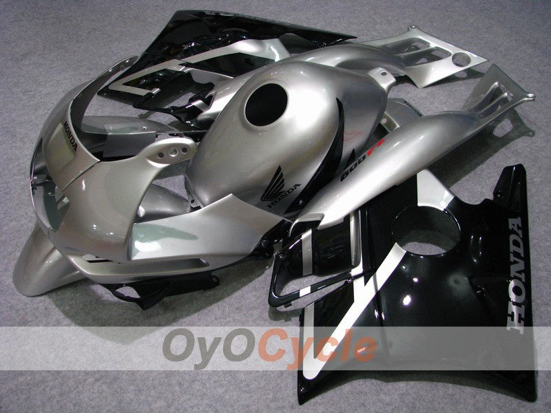 Injection ABS Fairing kit For Honda CBR600F2 1991-1994 - Black Silver - Factory Style