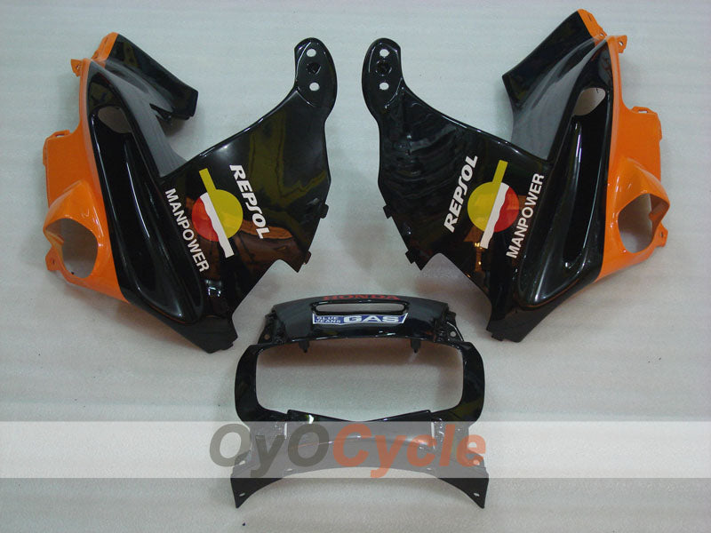 Injection ABS Fairing kit For Honda CBR600F2 1991-1994 - Orange Black - Repsol