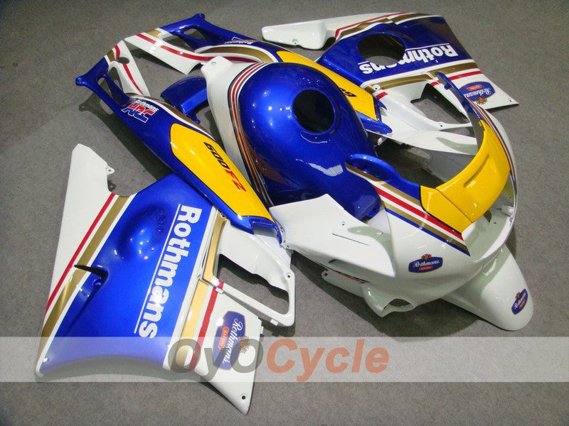 Injection ABS Fairing kit For Honda CBR600F2 1991-1994 - Blue White - Rothmans