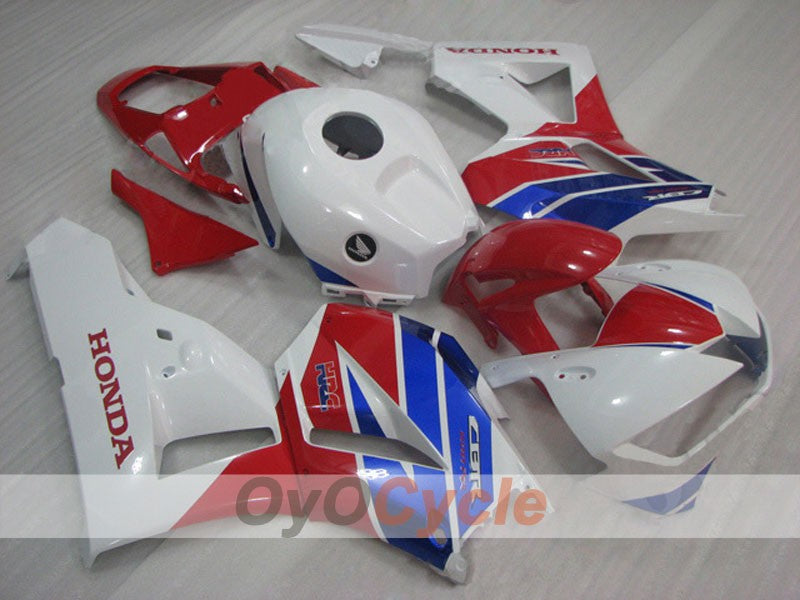 Injection ABS Fairing kit For Honda CBR600RR 2013-2016 - Red, White - Factory Style