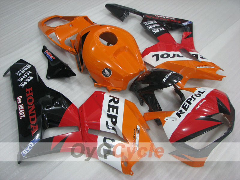 Injection ABS Fairing kit For Honda CBR600RR 2013-2016 - Orange, Black - Repsol