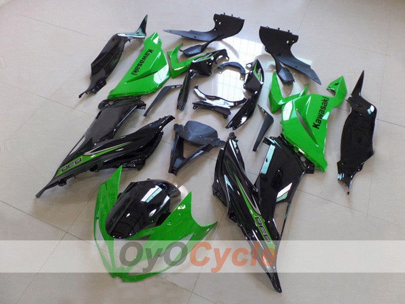 Injection ABS Fairing kit For NINJA ZX-6R 2013-2015 - Green, Black - Factory Style