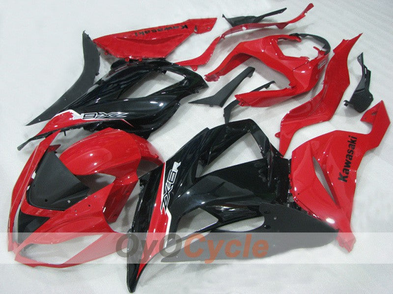 Injection ABS Fairing kit For NINJA ZX-6R 2013-2015 - Red, Black - Factory Style