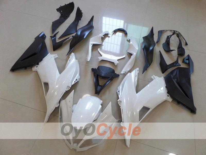 Injection ABS Fairing kit For NINJA ZX-6R 2013-2015 - White, Black - Factory Style