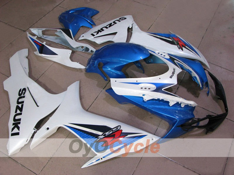 Injection ABS Fairing kit For Suzuki GSXR600 2011-2016 - Blue, White, Matte - Factory Style