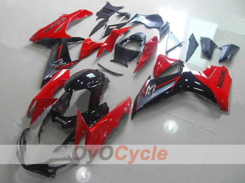 Injection ABS Fairing kit For Suzuki GSXR600 2011-2016 - Red, Black - Factory Style