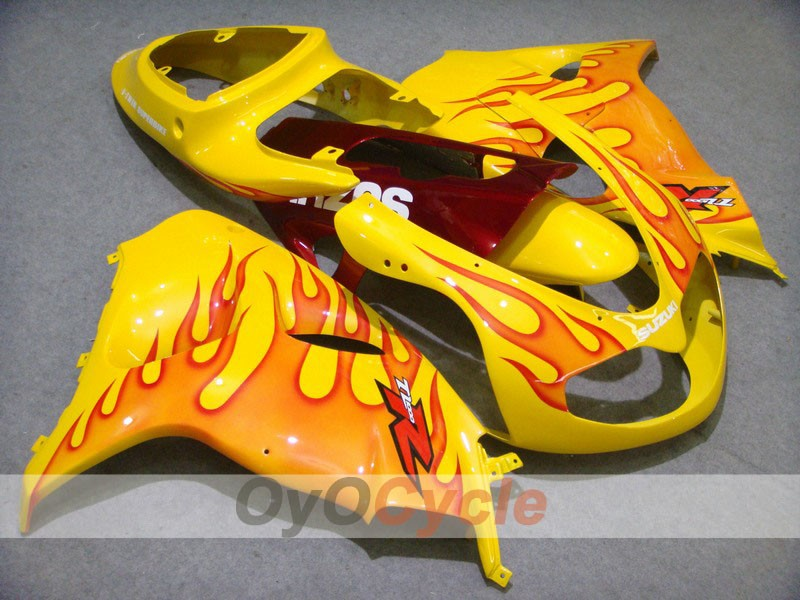 Injection ABS Fairing kit For Suzuki TL1000R 1998-2003 - Red, Yellow - Flame