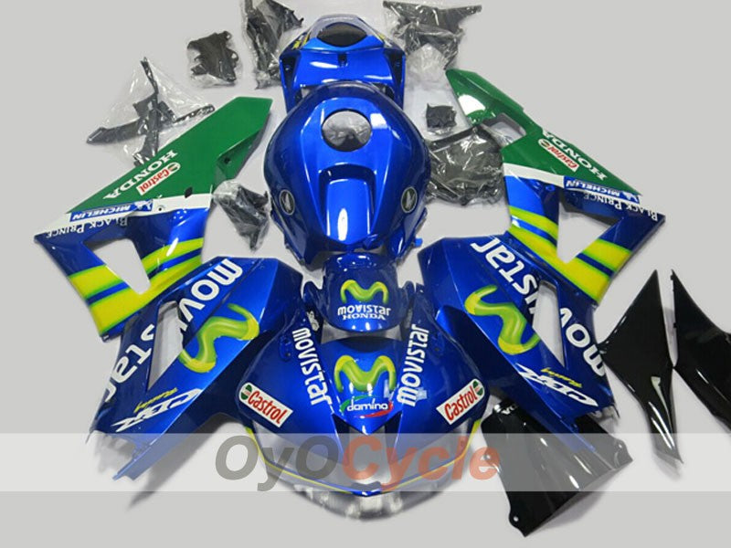 Injection ABS Fairing kit For Honda CBR600RR 2013-2016 - Blue - Movistar
