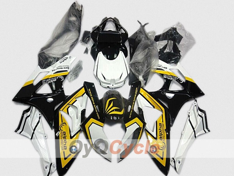 Injection ABS Fairing kit For Bmw S1000RR 2009-2014 - Yellow, White, Black - Alpha
