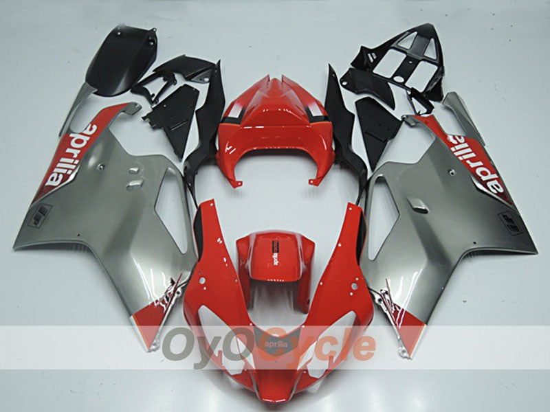 Injection ABS Fairing kit For Aprilia RSV 1000 R 2003-2006 - Red, Grey - Factory Style