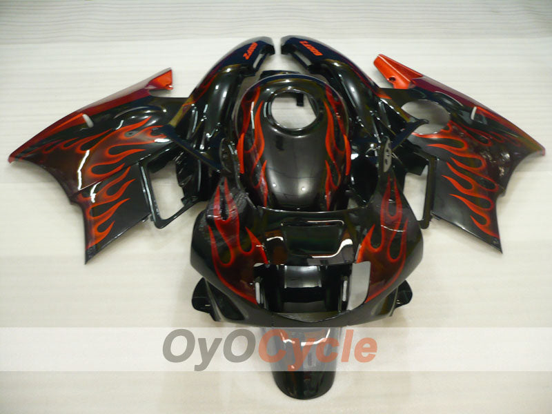 Injection ABS Fairing kit For Honda CBR600F2 1991-1994 - Red Black - Flame