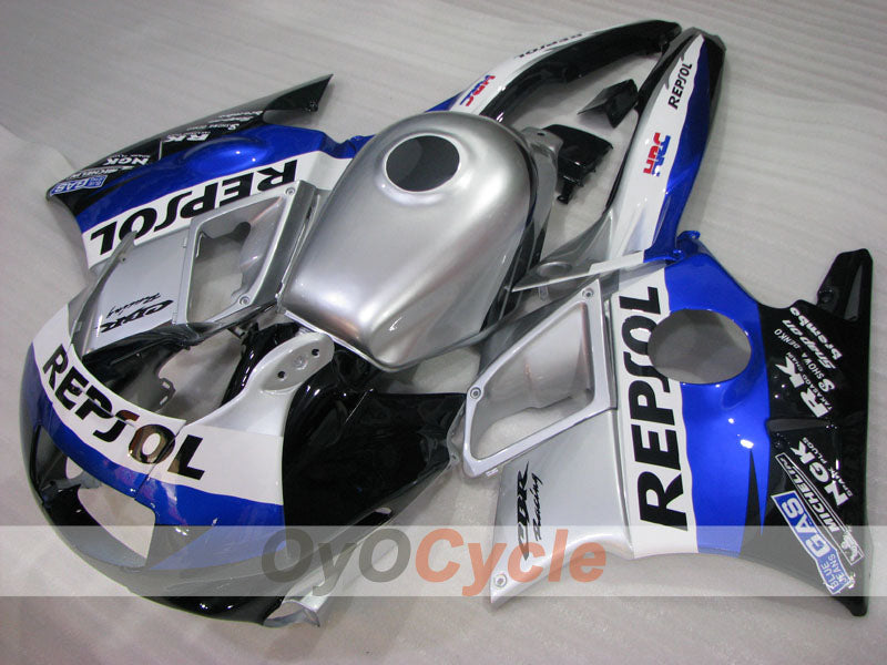 Injection ABS Fairing kit For Honda CBR600F2 1991-1994 - Blue Black Silver - PEPSI