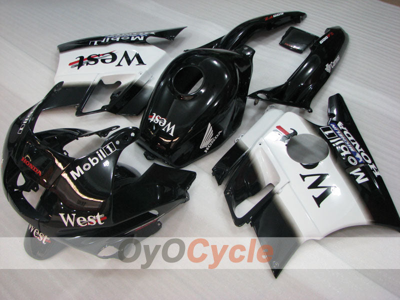 Injection ABS Fairing kit For Honda CBR600F2 1991-1994 - White Black - West