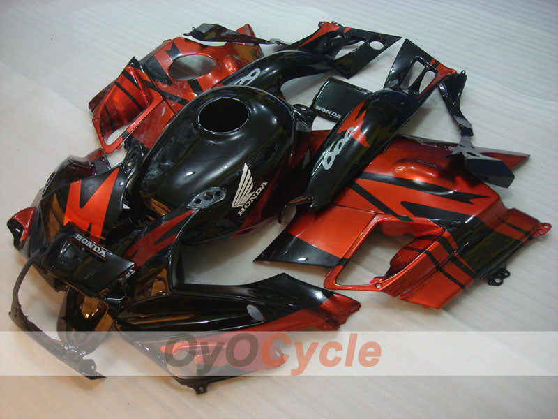 Injection ABS Fairing kit For Honda CBR600F2 1991-1994 - Orange Black - Factory Style