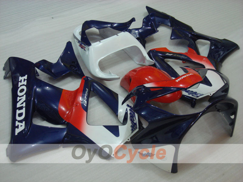 Injection ABS Fairing kit For Honda CBR929RR 2000-2001 - Red Blue - Factory Style