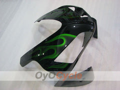 Injection ABS Fairing kit For Honda CBR600RR 2003-2004 - Green, Black - Flame