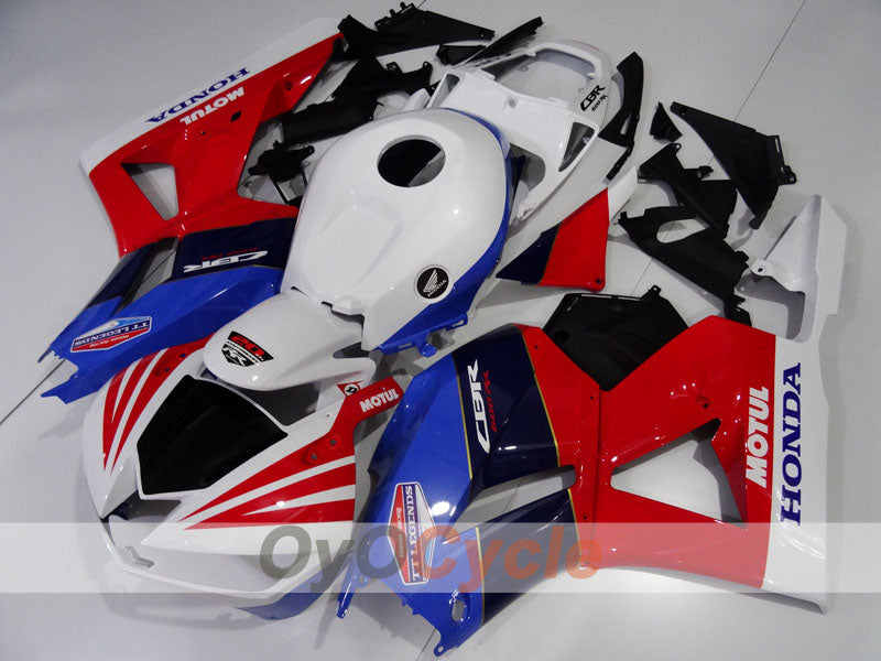 Injection ABS Fairing kit For Honda CBR600RR 2013-2016 - Red, Blue, White - MOTUL