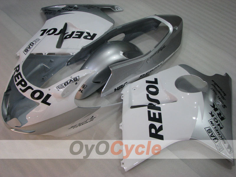 Injection ABS Fairing kit For Honda CBR1100XX 1996-2007 - White, Silver - Repsol