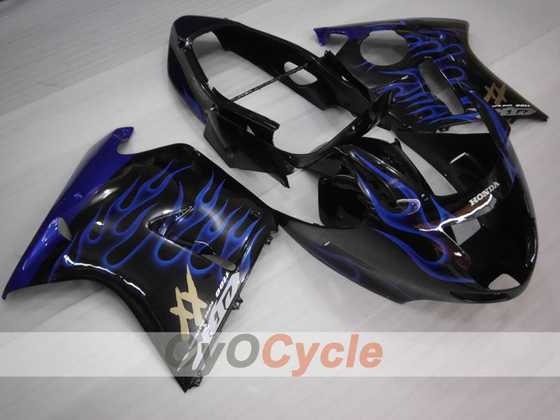 Injection ABS Fairing kit For Honda CBR1100XX 1996-2007 - Blue, Black - Flame
