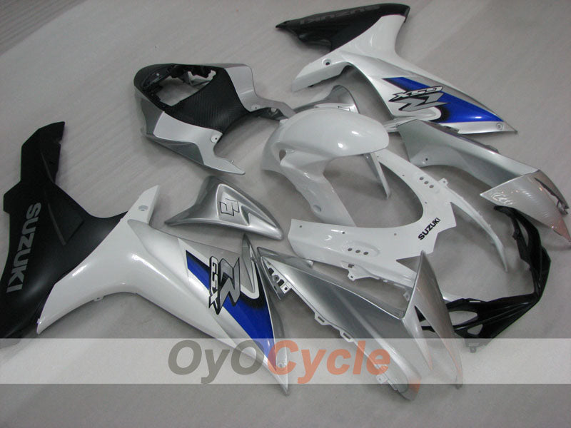 Injection ABS Fairing kit For Suzuki GSXR600 2011-2016 - White, Silver - Factory Style