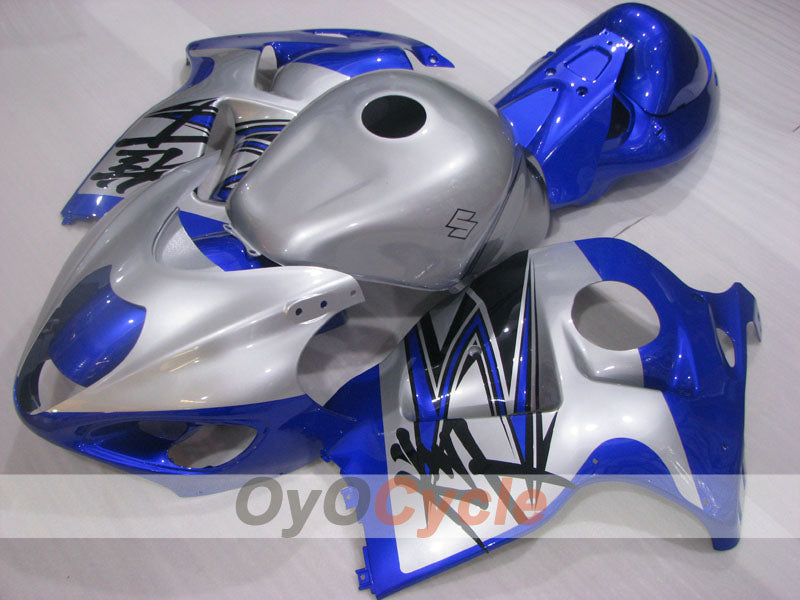 Injection ABS Fairing kit For Suzuki GSXR1300 Hayabusa 1999-2007 - Blue,  Silver - Factory Style