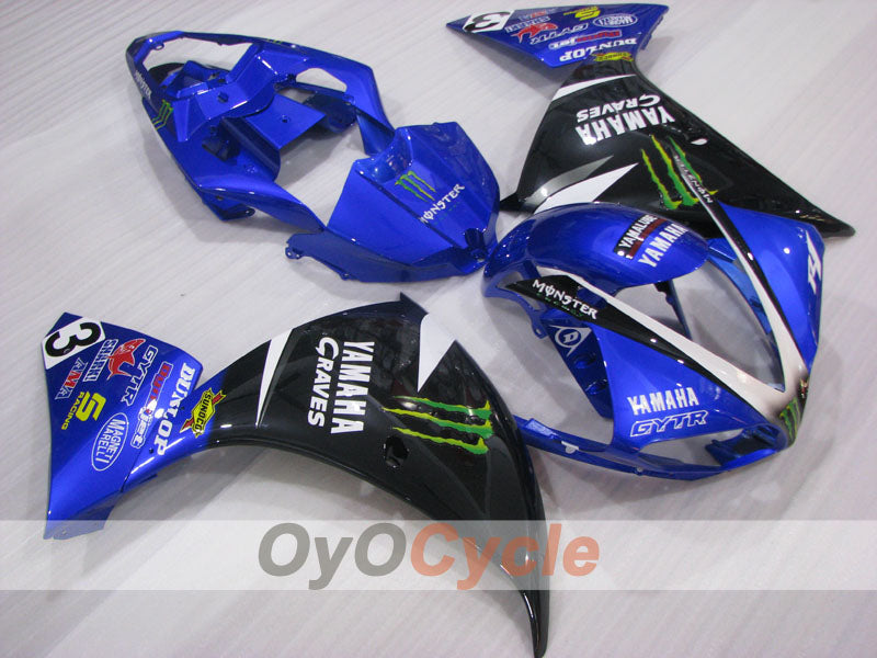 Injection ABS Fairing kit For Yamaha YZF-R1 2009-2011 - Blue Black - Monster