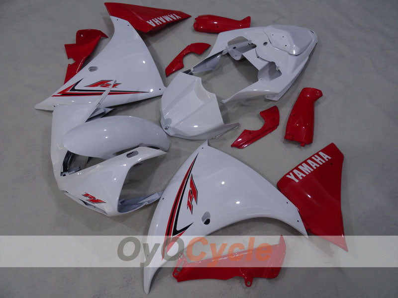 Injection ABS Fairing kit For Yamaha YZF-R1 2009-2011 - Red White - Factory Style