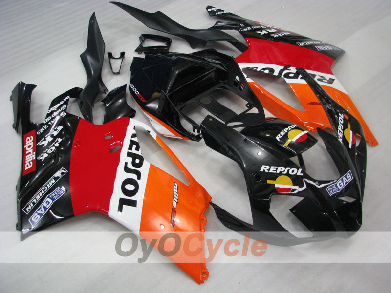 Injection ABS Fairing kit For Aprilia RSV 1000 R 2003-2006 - Red, Orange, Black - PEPSI