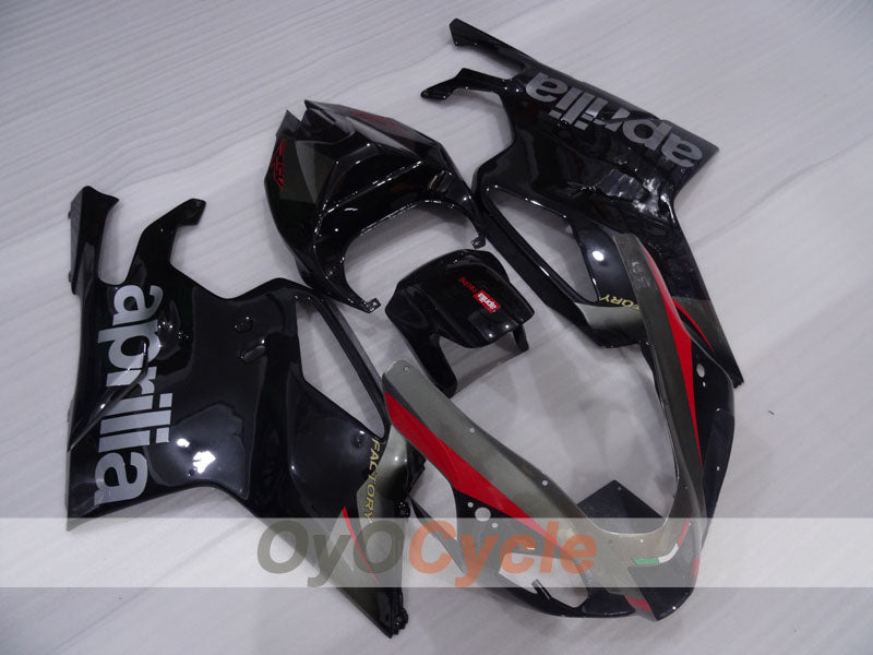 Injection ABS Fairing kit For Aprilia RSV 1000 R 2003-2006 - Black, Grey, Matte - Factory Style