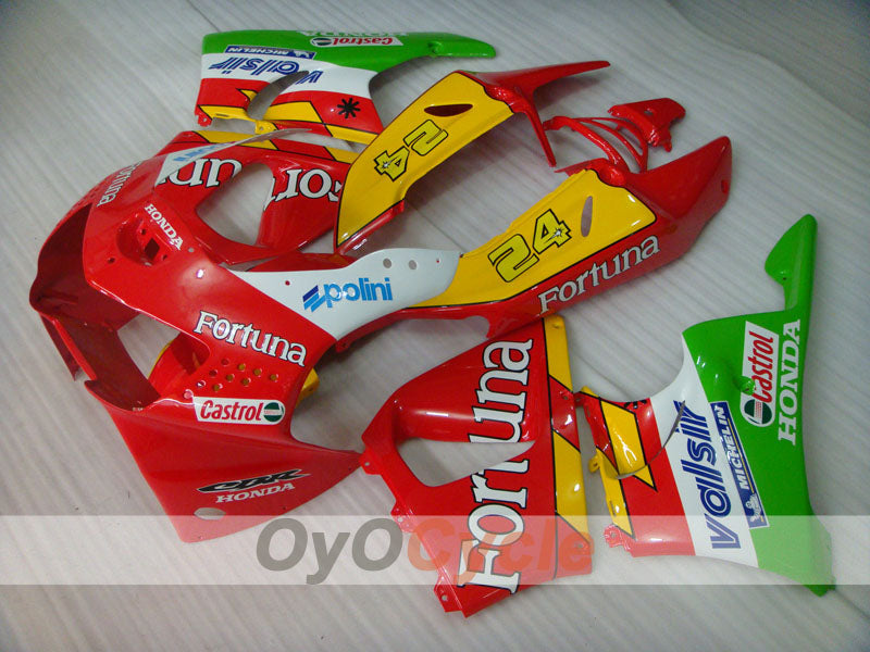 ABS Fairing kit For Honda CBR919RR 1998-1999 - Red Yellow Green - Fortuna