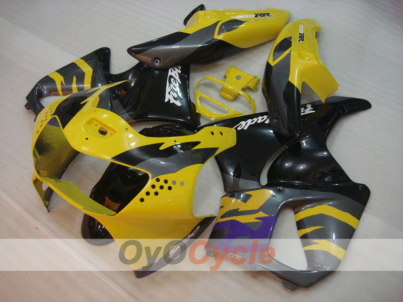 ABS Fairing kit For Honda CBR919RR 1998-1999 - Yellow Black Grey - Factory Style