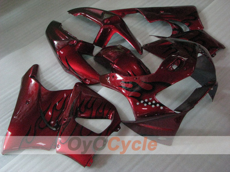 ABS Fairing kit For Honda CBR919RR 1998-1999 - Red Wine Color - Flame