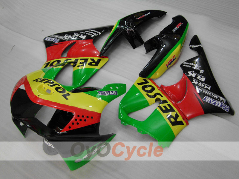 ABS Fairing kit For Honda CBR919RR 1998-1999 - Red Yellow Green - Repsol