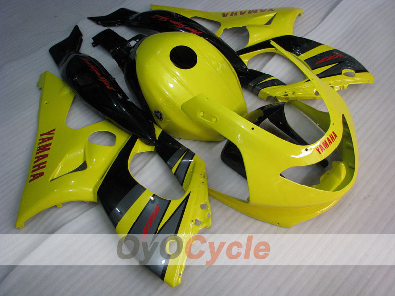 Injection ABS Fairing kit For Yamaha YZF600R 1997-2007 - Yellow Black - Factory Style